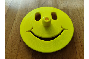 Happy Face Freediving Bottom Plate (Neon Yellow) - 12mm Dia. Dive Line