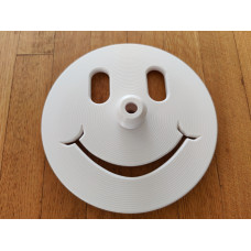 Happy Face Freediving Bottom Plate (White) - 12mm Dia. Dive Line