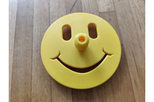 Happy Face Freediving Bottom Plate (Yellow) - 12mm Dia. Dive Line