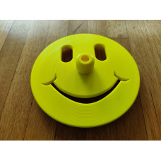 Happy Face Freediving Bottom Plate (Neon Yellow) - 10mm Dia. Dive Line