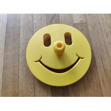 Happy Face Freediving Bottom Plate (Yellow) - 10mm Dia. Dive Line