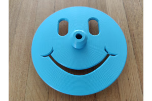 Happy Face Freediving Bottom Plate (Turquoise Blue) - 12mm Dia. Dive Line